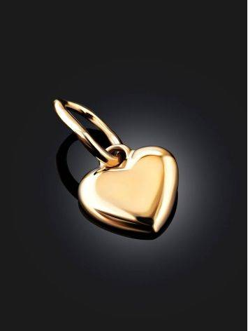Tiny Gold Heart Shaped Pendant, image , picture 2