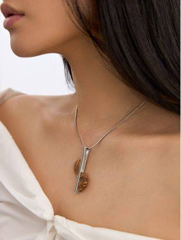 Ethnic Style Silver Wooden Pendant, image , picture 3