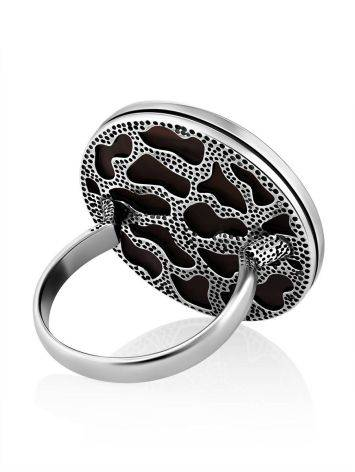 Geometric Design Silver Wooden Ring, Ring Size: 9.5 / 19.5, image , picture 5