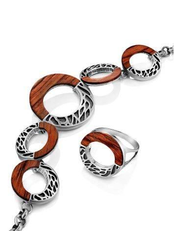 Designer Silver Wooden Bracelet, image , picture 5