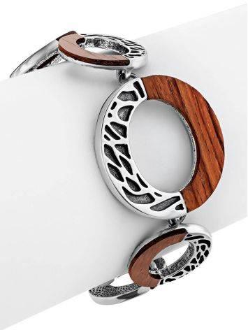 Designer Silver Wooden Bracelet, image , picture 4