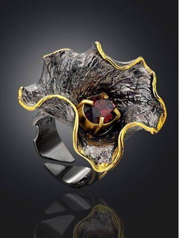 Fabulous Silver Garnet Adjustable Ring, Ring Size: Adjustable, image , picture 2