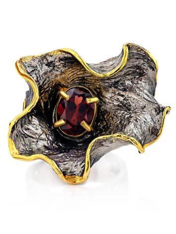 Fabulous Silver Garnet Adjustable Ring, Ring Size: Adjustable, image , picture 3