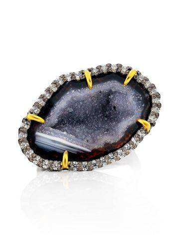 Fabulous Agate Geode Ring, Ring Size: Adjustable, image , picture 3