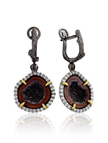 Stunning Agate Geode Dangle Earrings, image