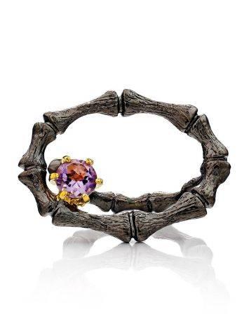 Wonderful Designer Silver Amethyst Ring, Ring Size: Adjustable, image , picture 3