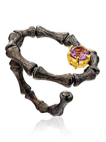 Wonderful Designer Silver Amethyst Ring, Ring Size: Adjustable, image