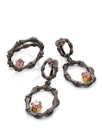 Wonderful Designer Silver Amethyst Ring, Ring Size: Adjustable, image , picture 4