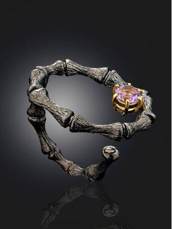 Wonderful Designer Silver Amethyst Ring, Ring Size: Adjustable, image , picture 2