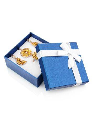 Blue Square Gift Box With White Ribbon, image , picture 3