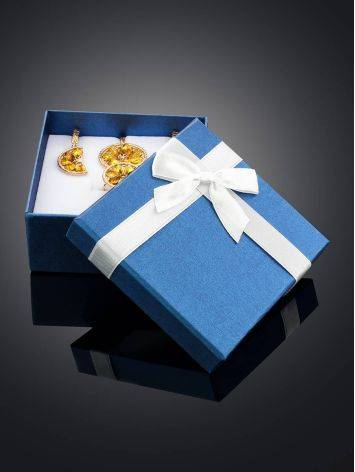 Blue Square Gift Box With White Ribbon, image , picture 2