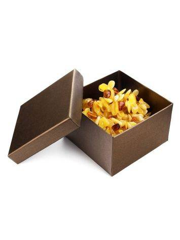 Bronze Color Cardboard Gift Box, image , picture 2