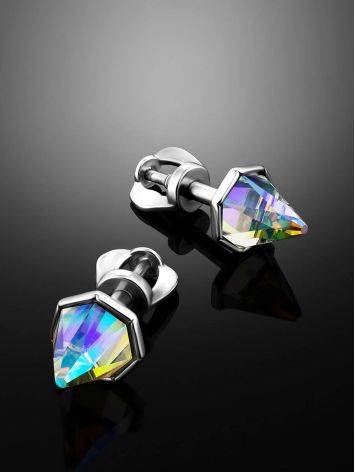 Chameleon Color Conical Crystal Stud Earrings, image , picture 2
