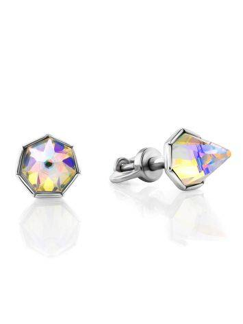 Chameleon Color Conical Crystal Stud Earrings, image