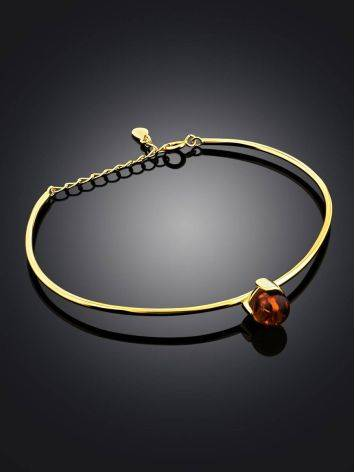 Fashionable Gilded Silver Amber Bangle Bracelet The Palazzo, image , picture 2