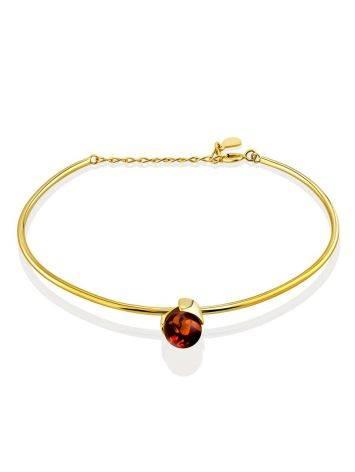 Fashionable Gilded Silver Amber Bangle Bracelet The Palazzo, image