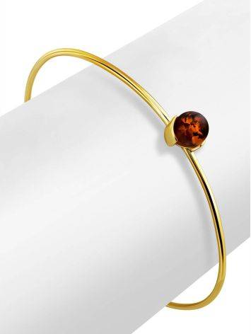 Fashionable Gilded Silver Amber Bangle Bracelet The Palazzo, image , picture 3
