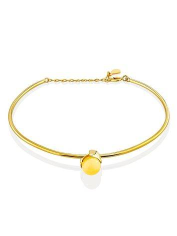 Chic Gilded Silver Bangle Bracelet With Amber The Palazzo, image
