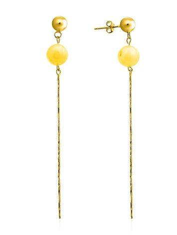 Refined Gilded Silver Amber Chain Dangle Earrings The Palazzo, image