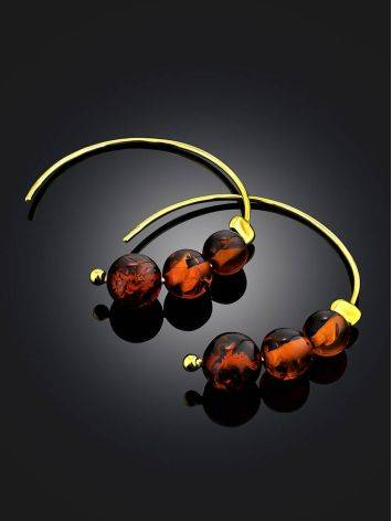 Threader Style Gilded Silver Amber Earrings The Palazzo, image , picture 2