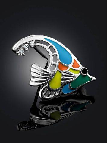 Colorful Enamel Fish Brooch, image , picture 2