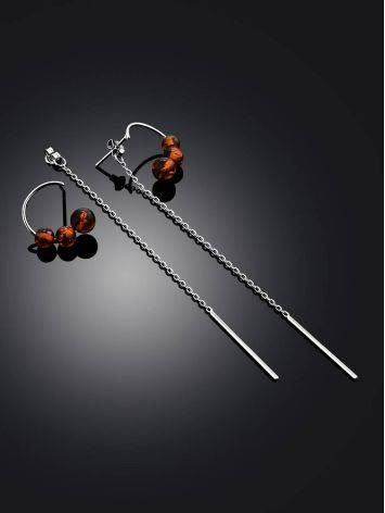 Refined Silver Chain Dangles With Natural Baltic Amber The Palazzo, image , picture 2