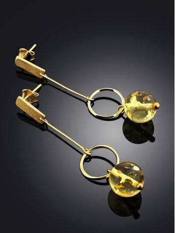 Ultra Feminine Gilded Silver Amber Chain Dangles The Palazzo, image , picture 2