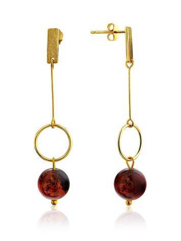 Stylish Gilded Silver Chain Dangles With Natural Baltic Amber The Palazzo, image