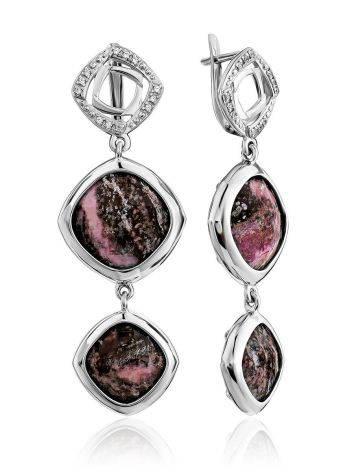 Amazing Rhodonite Dangle Earrings, image