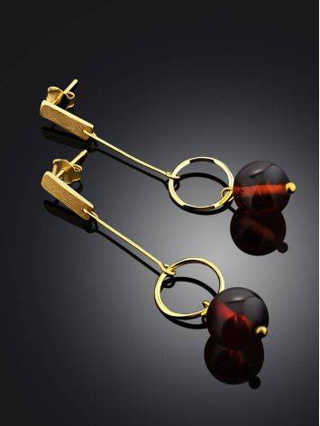 Stylish Gilded Silver Chain Dangles With Natural Baltic Amber The Palazzo, image , picture 2