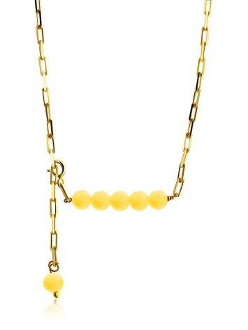 Trendy Gilded Silver Amber Necklace The Palazzo, image