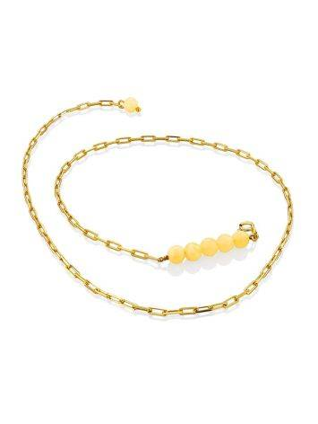 Trendy Gilded Silver Amber Necklace The Palazzo, image , picture 3