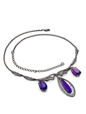 Deep Purple Amethyst Statement Necklace, image , picture 3