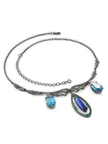 Fabulous Silver Necklace With Blue And Green Stones, image , picture 3