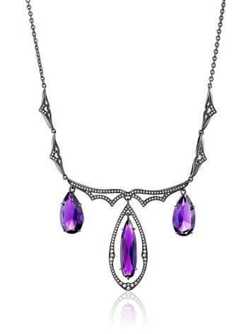 Deep Purple Amethyst Statement Necklace, image