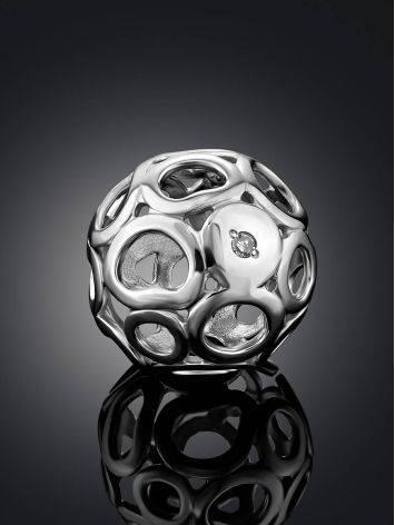 Cut Out Design Silver Dimond Pendant, image , picture 2