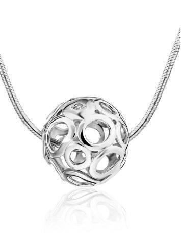 Cut Out Design Silver Dimond Pendant, image
