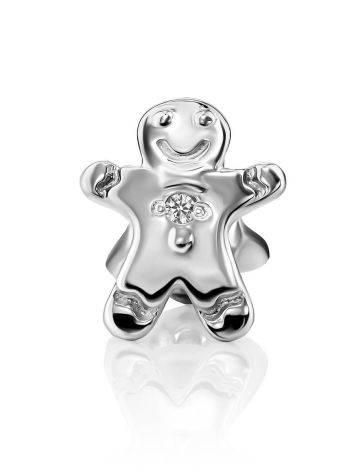 Cute Silver Diamond Mono Earring, image