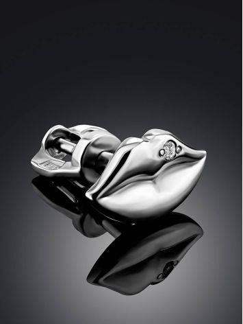 Cute Silver Diamond Mono Earring, image , picture 2