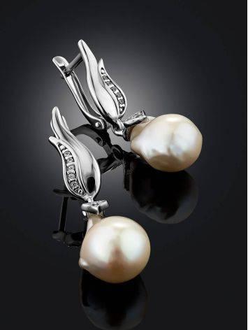Fabulous Baroque Pearl Drop Earrings, image , picture 2