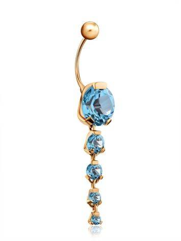 Gold Topaz Belly Button Ring, image , picture 3