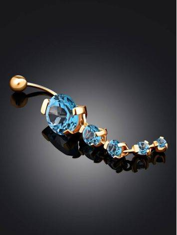 Gold Topaz Belly Button Ring, image , picture 2