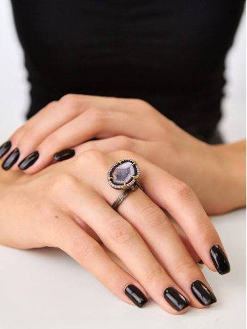 Fabulous Agate Geode Ring, Ring Size: Adjustable, image , picture 5