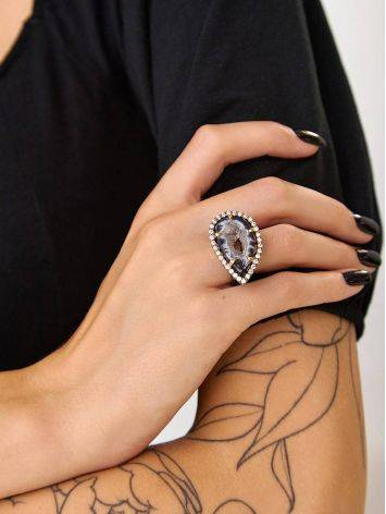 Fabulous Agate Geode Cocktail Ring, Ring Size: 7 / 17.5, image , picture 5