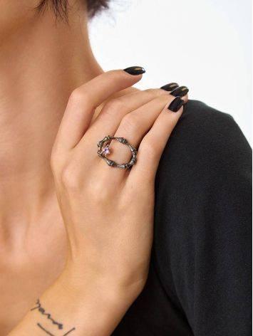 Wonderful Designer Silver Amethyst Ring, Ring Size: Adjustable, image , picture 5