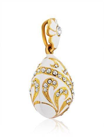 Fabulous White Enamel Egg Shaped Pendant The Romanov, image , picture 4