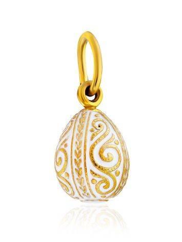 Ornate Gilded Silver Enamel Egg Shaped Pendant The Romanov, image , picture 4