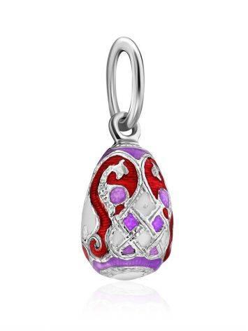 Chic Silver Enamel Egg Pendant The Romanov, image , picture 4