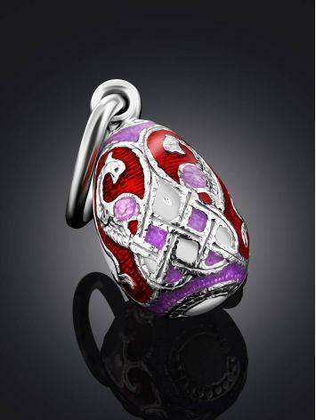 Chic Silver Enamel Egg Pendant The Romanov, image , picture 2