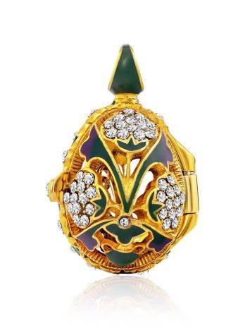 Colorful Enamel Locket Egg Pendant The Romanov, image